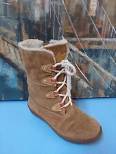 Timberland 32781M Brown Insulated Casual Winter Boots Youth Size 1.5 Waterproof