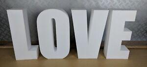 400mm Tall LOVE letters - Freestanding - Wedding Decor / Props - Polystyrene