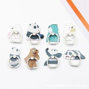 Cartoon Bears & Panda Finger Ring Stand Mobile Phone 360° Grip Holder ~~ aOQ4#