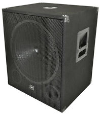 "QTX QT18SA 1000W 18"" Powered Active PA Subwoofer Bass Bin Speaker + Cutoff Eq"