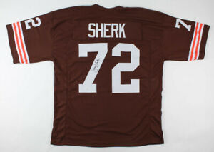 Jerry Sherk Signed Cleveland Browns Jersey (JSA Holo) 4×Pro Bowl Defensve Tackle