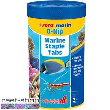Sera Marin O-Nip 265 tabs Saltwater Fish Food Tablets Krill Tubifex Bloodworms