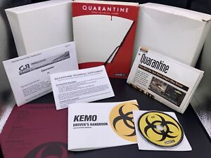 Quarantine Gametek 1994 PC - COMPLETE With Box & Papers + Extras Read! Box Wear!