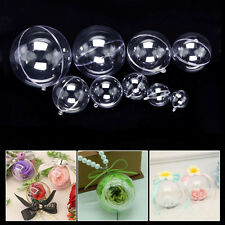 8 Set 16pcs DIY Clear Plastic Bath Bomb Mold 12/10/9/8/7/6/5cm Christmas Ba B3T3