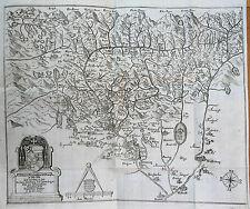 Dueckher: Saltzburgische Chronica Salzburgo Topografía Austria con Tarjeta; 1666