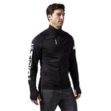 Men's black track jacket Reebok One Series Training Long Sleeve Zip XL