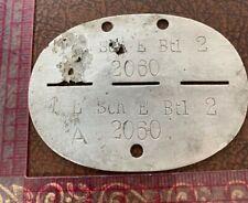 More details for original ww2 german army soldiers dog tags - 1 l sch e btl 2 2060