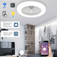 BT Smart LED Ceiling Fan with Light Dimmable APP Remote Control Living Room Lamp