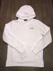 Mens Under Armour UA Threadborne Fitted Coldgear Hoodie Sweatshirt Sz Sm EUC