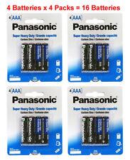 16x Panasonic AAA Batteries Heavy Duty Triple A 1.5v Carbon Zinc 4pk x 4