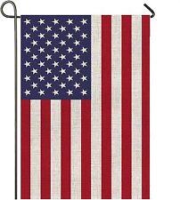 Mogarden American Garden Flag, 12.5 x 18 Inches, Premium Burlap Yard Flag