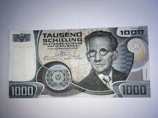 """1000 SCHILLING SCHEIN, ERWIN SCHROEDINGER, 1983, """"KASSENFRISCH-VORZÜGLICH"""""""