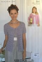DK Knitting Pattern  Ladies  Girls Lacey Cardigan Size 28/46""
