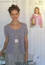SIRDAR DK Knitting Pattern Ladies Girls Lacey Cardigan Size 28 46