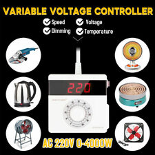 4000W Variable Voltage Controller LCD for Light Fan Speed Motor Dimmer AC 220V