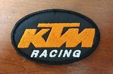 KTM RACING PATCH TOPPA OVALE ricamata con velcro 8 cm X 5 cm