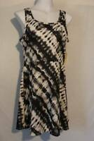NEW Womens Short Summer Dress Size Medium Sleeveless Above Knee Black White
