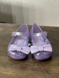 Mini Melissa Princess Crown Sandals Toddler Summer Kids Shoes Size 6 Purple