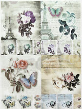 Carta di riso per decoupage, foglio di album, Craft Parigi in colori piccolo