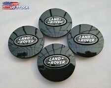 "(Set of 4) 2.5"" All Black Logo Land Rover Wheel Center Caps 63Mm Fit Range Rover (Fits: Land Rover Freelander)"