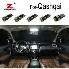 14pc LED Interior light mirror bulb + LED plate For Nissan Qashqai J10 J11 07-20