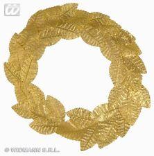 Corona d'Alloro Oro - Accessorio Costume Carnevale Romano, Greco Laurea 3282R