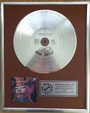 """Grace Jones - Inside Story CD/Cover gerahmt +12""""Deko goldene Vinyl Schallplatte"""