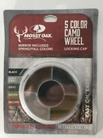 Mossy Oak 5-Color Camo SPRING & FALL HUNT Face Paint w/Mirror & Locking Cap -NEW