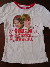 T-shirt manches longues blanc imprimé HIGH SCHOOL MUSICAL Taille S/10 ans