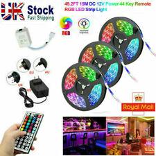 LED Strip Lights 10-15M 3528 RGB Dimmable TV Back Lighting+DC Remote Control UK