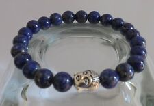 Lapis Lazuli 8mm Grade AAA Gemstone Buddha Bracelet Yoga Stacking Bracelet