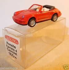 MICRO WIKING HO 1/87 PORSCHE 911 CARRERA 4 CABRIOLET ROUGE IN BOX