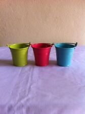 3 x Metal Vase Flower Pot Home Decor + Track