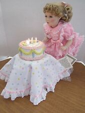 "Gorham 14"" Porcelain Doll Happy Birthday Amy Musical & Lighted Cake Lia Di Leo"