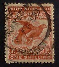 New Zealand Stamps Vintage Used - 1898 Kea & Kaka Parrots - Scott 81 CV $30