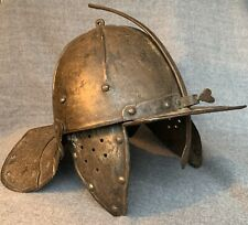 Authentic 1600's British Cromwellian Lobster Tail Helmet, 400+ Years Old!