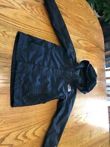 The North Face Boys XS 6-7 Black Hyvent Windbreaker Waterproof Hooded Jacket