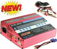 Powerhobby H200 AC /C Dual Fast Lipo 200w Battery Charger Proboat EC5 Banana RED
