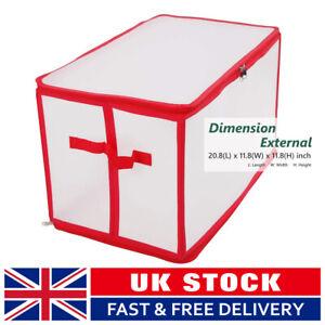 112 Tree Ornament Balls Christmas Storage Bag Box Xmas Ornaments Decorations UK