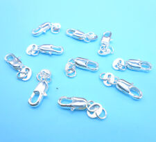10PCS Making DIY Jewelry Findings 925 Sterling Silver Lobster Clasps Fitting