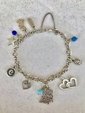 James Avery Charm Bracelet All 925 Silver Twist Chain with 11 Charms, 3 Retired