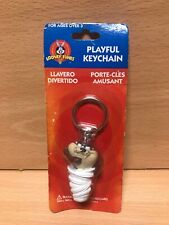Looney Tunes Taz Tasmanian Devil Playful Keychain 1998 Stylus Trends NEW Sealed