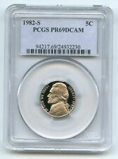 1982 S 5C Jefferson Nickel Proof PCGS PR69DCAM