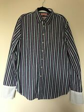 Thomas Pink Classic Pinstripe Long Sleeved Shirt Formal Smart Casual Size L