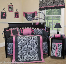 Baby Boutique - Rose Damask - 15 pcs Nursery Crib Bedding Set