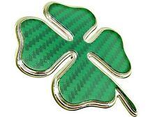 Pair Of New Official Genuine Alfa Romeo Giulietta Green Cloverleaf Wing Badges