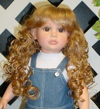Doll Wig Monique 102 size 7/8 - Light Ginger/Golden Blond (Model in a diff size)