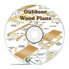 OUTDOOR GARDEN WOOD PLAN, SHED, ARBOR, BARN, DOGHOUSE, BACKYARD BUILD PLANS CD