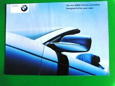 BMW BROCHURE  2000  3 Series Convertible  4 Pages VGC