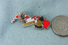WILLABEE & WARD PIN HAWAII STATE COMES WITH STATISTICS CARD